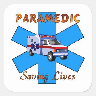 Sticker Carré Les vies d'économie d'infirmier