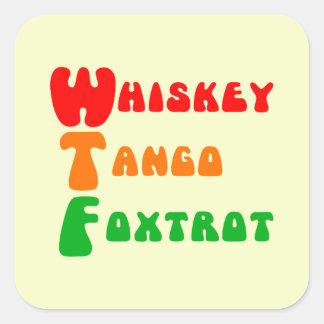 Sticker Carré Lettrage d'amusement de fox-trot de tango de