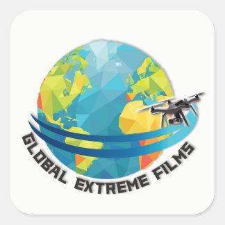 Sticker Carré L'extrémité globale filme l'autocollant (blanc)