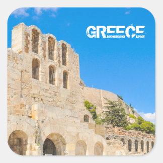 Sticker Carré L'Odeon de l'Atticus de Herodes à Athènes, Grèce