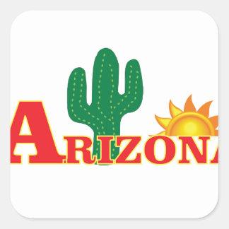 Sticker Carré Logo de l'Arizona simple
