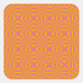 Sticker Carré L'orange et le rose ont piqué le motif