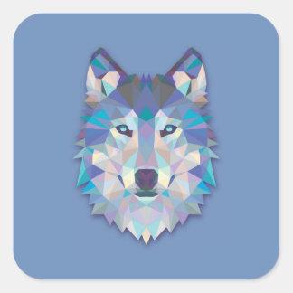 Sticker Carré Loup