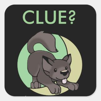 Sticker Carré Loup de Chibi