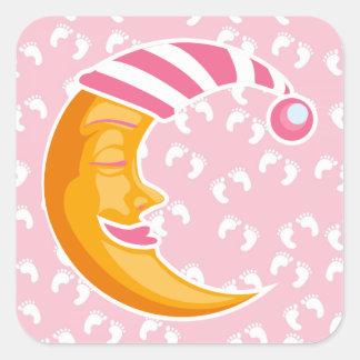 Sticker Carré Lune de bébé