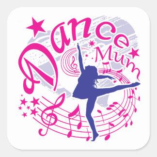 Sticker Carré Maman de danse