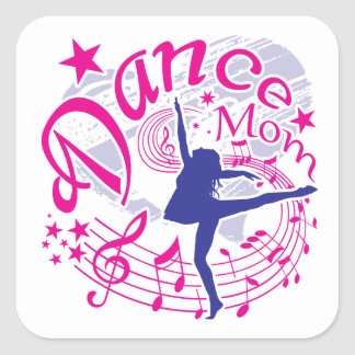 Sticker Carré Maman de danse