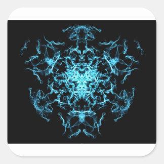 Sticker Carré Mandala d'éclairage