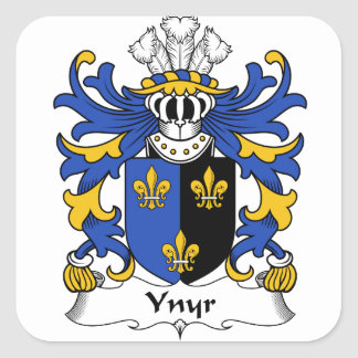 Sticker Carré Manteau antique de Ynyr de crête de famille de