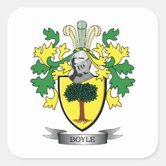 Sticker Carré Manteau de Boyle des bras