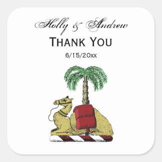 Sticker Carré Manteau de couleur de palmier de chameau des bras