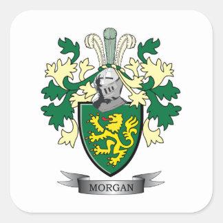 Sticker Carré Manteau de crête de famille de Morgan des bras