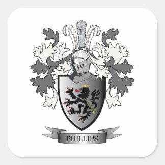 Sticker Carré Manteau de crête de famille de Phillips des bras