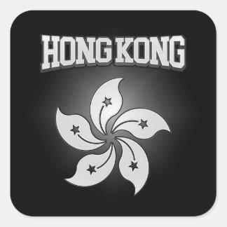 Sticker Carré Manteau de Hong Kong des bras