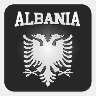 Sticker Carré Manteau de l'Albanie des bras