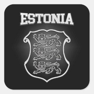Sticker Carré Manteau de l'Estonie des bras