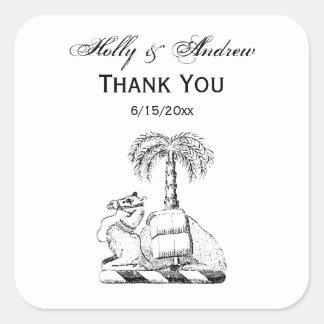 Sticker Carré Manteau de palmier de chameau des bras héraldique