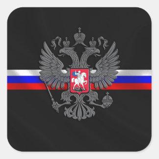 Sticker Carré Manteau des bras russe