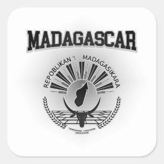 Sticker Carré Manteau du Madagascar des bras