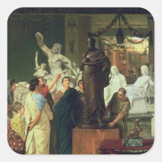 Sticker Carré Marchand d'Alma-Tadema | en statues