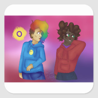 Sticker Carré Maximum et Alita
