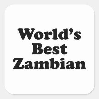 Sticker Carré Meilleur zambien du monde