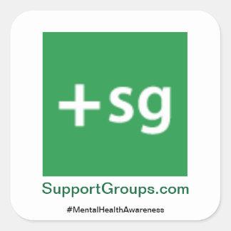 Sticker Carré #MentalHealthAwareness de SupportGroups.com