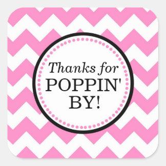 Sticker Carré Merci pour Poppin par l'autocollant carré -