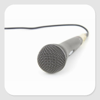 Sticker Carré Microphone - entretien à moi