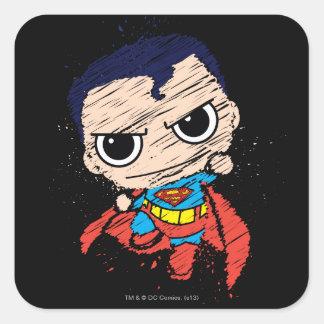 Sticker Carré Mini croquis de Superman - vol