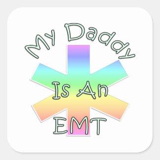 Sticker Carré Mon papa est un EMT