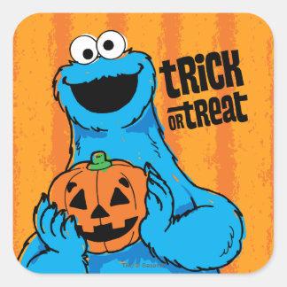 Sticker Carré Monstre de biscuit - des bonbons ou un sort