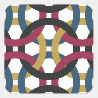 Sticker Carré motif d'anneau