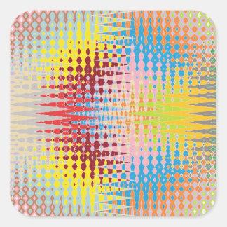 Sticker Carré Motifs multicolores de métier de papier de diamant