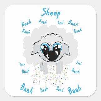 Sticker Carré moutons