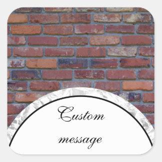 Sticker Carré Mur de briques - briques et mortier mélangés