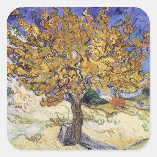 Sticker Carré Mûrier de Vincent van Gogh |, 1889