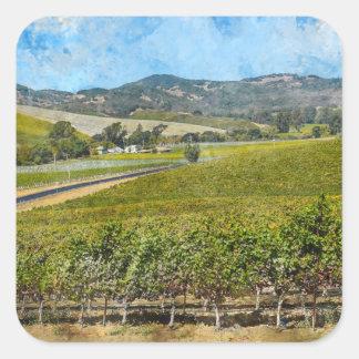 Sticker Carré Napa Valley la Californie
