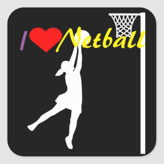 Sticker Carré Net-ball d'amour du tireur I de but