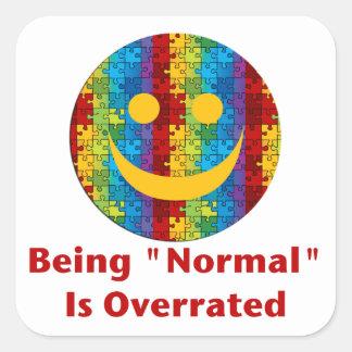 Sticker Carré Normale surestimée (autisme)