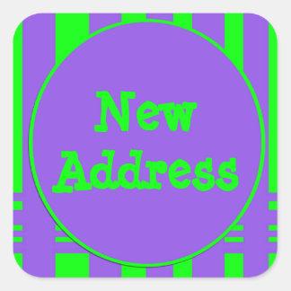 Sticker Carré Nouvelles rayures lumineuses d'adresse