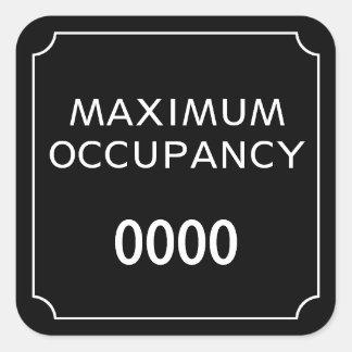 Sticker Carré Occupation maximum
