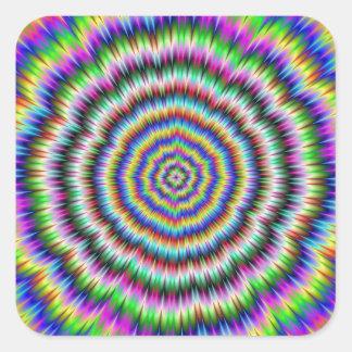 Sticker Carré oeil rechignant l'autocollant psychédélique