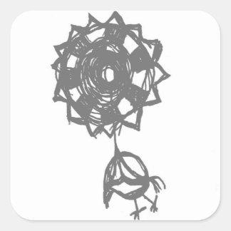 Sticker Carré oiseau de baloon