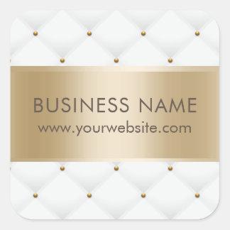 Sticker Carré Or moderne piqué par luxe et blanc de salon de