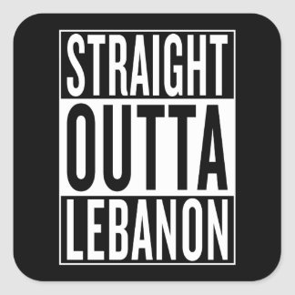 Sticker Carré outta droit Liban