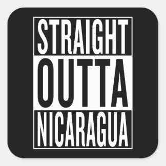 Sticker Carré outta droit Nicaragua
