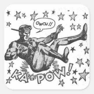 Sticker Carré Owch ! Prisonnier de guerre de ka !