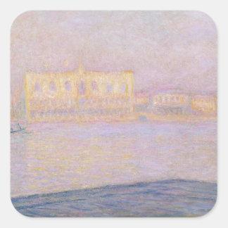 Sticker Carré Palais ducal de Claude Monet   de San Giorgio,