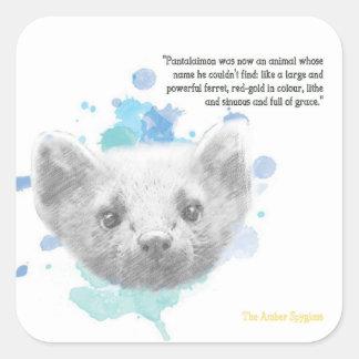 Sticker Carré Pantalaimon, le démon de Lyra de ses matériaux